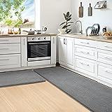 Color&Geometry Juego de 2 Piezas de Alfombra Cocina Lavable Antideslizante,alfombras Cocina 44x75cm+44x150cm,alfombras para C