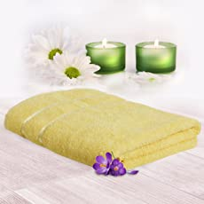 Story@Home 100% Cotton Soft Towel Single Piece, 450 GSM - 1 Full Size Bath Towel - Lemon Yellow