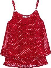 CACA CINA Girls Red Polka Dot Top