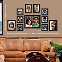 Ajanta Royal Classic Set Of 11 Individual Photo Frames (6-4X4, 2-4X6, 2-5X7 & 1-8X10) : A-73A (Black)