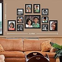 Ajanta Royal Classic Set Of 11 Individual Photo Frames (6-4X4, 2-4X6, 2-5X7 & 1-8X10) : A-73A (Black)