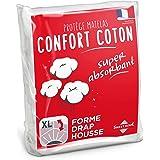 Sweethome | Protège Matelas Confort - 160x200 cm - Molleton 80% Coton - Ultra Absorbant - Forme Drap Housse - Lavable en Mach