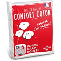 Sweethome   Protège Matelas Confort - 90x190/200 cm - Molleton 80% Coton - Ultra Absorbant - Forme Drap Housse - Lavable…