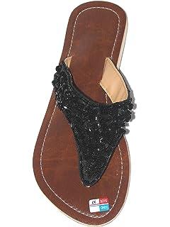 Damen Flip Sandale Sunny Zehentrenner Zehenpantolette