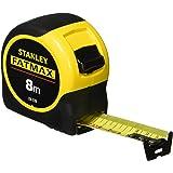 Stanley 0-33-728 Mètre Ruban 8M - Gamme FatMax - Revêtement Blade Armor - Ruban Ultra Épais - Plus Résistant - Revêtement Myl