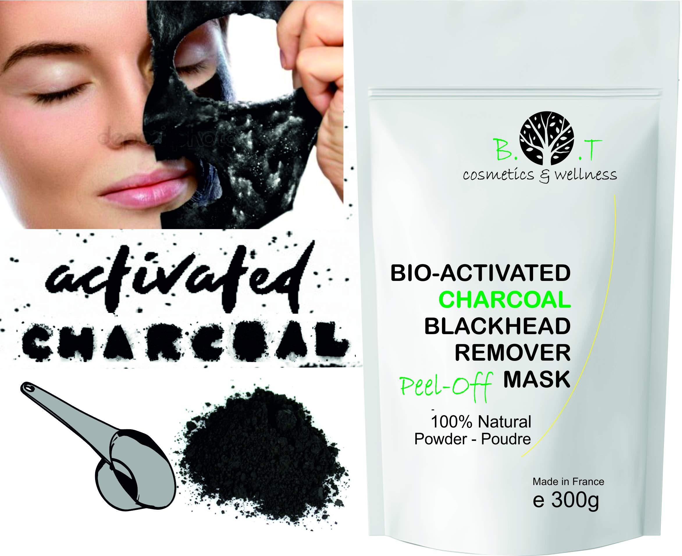 Mascarilla Exfoliante peel-off Carbón activo anti puntos negros 300g Mascara de Alginatos Unisex Piel con imperfecciones Piel Joven – en polvo
