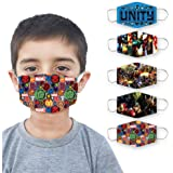 LIMIT Fashion Store - 2-Layer Avengers Design Printed Kids Face Mask (Pack Of 5) (BOYS/GIRLS)