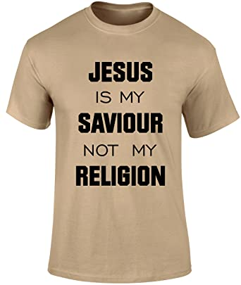 Jesus is my saviour not religion christian gospel church scriptures men t shirt military green or red colour men t shirt christian easter christmas gospel religious gift men t shirt amazon clothing negle Image collections