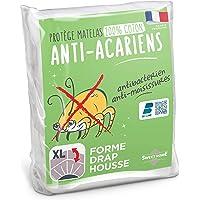 Sweethome   Protège Matelas Anti Acariens - 90x190/200 cm - Molleton 100% Coton - Doux et Confortable - Forme Drap…