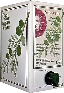 Olio Extra Vergine di Oliva Italiano 2020 La Sovana, prodotto in Toscana 5 Lt, Nuova annata, appena spremuto, tipicamente verde