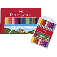 Faber-Castell 115886 - Buntstifte Hexagonal, 36er Metalletui (+ Doppelfasermaler 20er Etui)