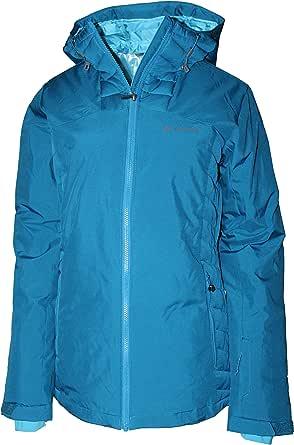 Columbia Women's Traverse Mountain Hybrid Omni Heat Insulated Hooded Jacket (Lagoon, M)