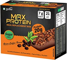 Ritebite Max Protein Green Coffee Beans - 420 g (Pack of 6)