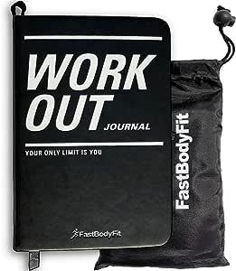 FastBodyFit - Journal d'entraînement pour la musculation avec plus de 200 pages, carnet de progression et calendrier - Journal de fitness parfait pour la salle de sport