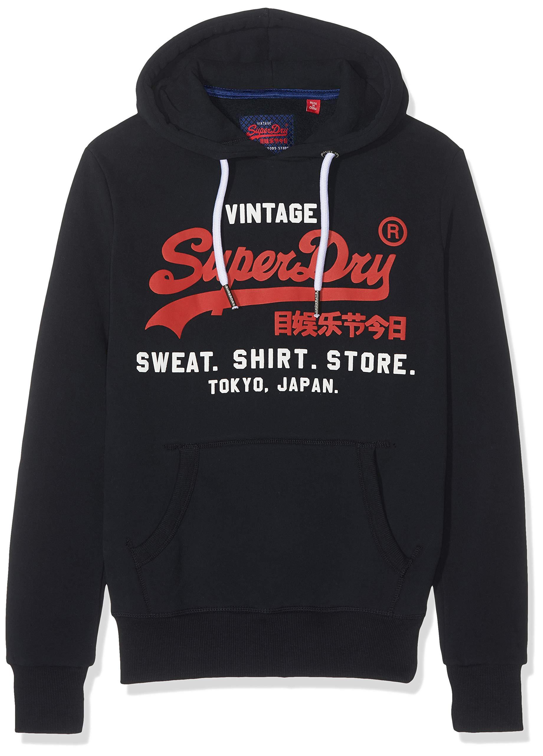 Superdry Men's Sweat Shirt Shop Duo Hood Jumper
