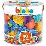 BLOKO – Tube de 50 BIoko – Dès 12 Mois – Fabriqué en Europe – Jouet de Construction 1er âge – 503502