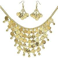 WIDMANN- Set Collana E Orecchini di Monete Adulto Donna, Oro, 24372