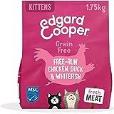 Edgard & Cooper Pienso Gatito Gatos Junior Kitten Esterilizados o Activos Comida Seca Natural Sin Cereales 1.75kg Pollo y Pat