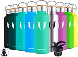 Super Sparrow Stainless Steel Vacuum Insulated Water Bottle - Double Wall Design - Standard Mouth - 350ml & 500ml &...