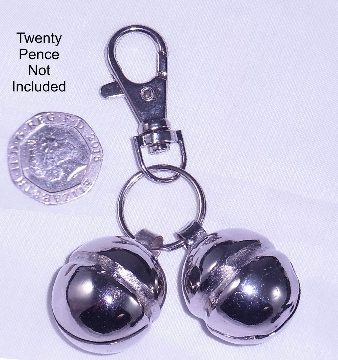 GB Falconry Quality Lahore Bells for Dogs Size 9 (A pair with Lobster Clasp & split ring)