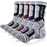 Tmani Thermal Sports Socks Cushioned Walking Socks PE Gym Winter Work Socks Wicking Breathable Crew Cotton Hiking Socks for O