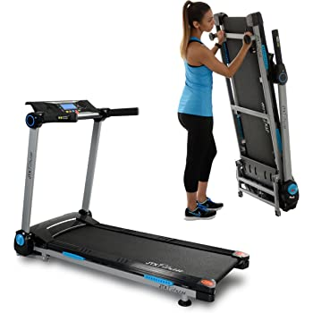 JTX Slim Line: FLAT FOLDING TREADMILL. Compact, Motorised Treadmill with Digital Incline. 100% Assembled.