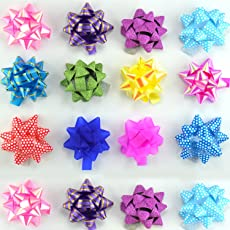 Infinxt 50 Pcs Self Adhesive Flower Ribbon for Gift Wrap & Decoration Multicolor (Small)