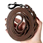 Le Agape Heavy Duty Leather Dog Leash 6 Foot x 3/4 inch - Strong & Soft Leather Leash for Large and Medium Dogs - Best...