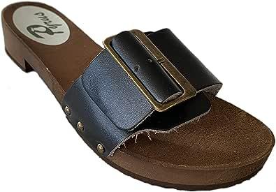 GreenPyrus S2 Sandali Zoccoli Sabot Pantofole Scarpe Pelle Scamosciata, Donna