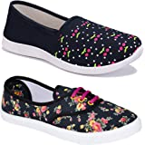 Shoefly Women Multicolour Latest Collection Sneakers Shoes-Pack of 2 (Combo-(2)-611-1451)
