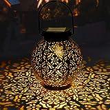 Lanterna Solare Giardino GolWof LED Lanterna Solare Esterno Vintage Luce Bianco Caldo Luce Solare Giardino Impermeabile…