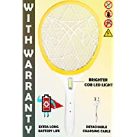 WEIRD WOLF Heavy Duty Rechargeable Mosquito Bat Racket with Powerful Battery (COB Light)