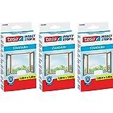 tesa Insect Stop Standaard vliegengaas voor ramen, insectenbescherming, op maat te snijden, muggenbescherming zonder boren, 1