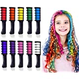 Kalolary 10 kleur Haarkrijt Kinderen haar krijt kam, Tijdelijk haar krijt kleur set, Mini Instant haar krijt kam voor kindere