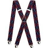 PIERROT Bretelles Homme Larges et Vintage - Made in France - Taille Ajustable Jusqu'à 130cm - Garantie à Vie - 100% FRANCAIS