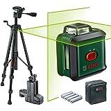 Bosch laser lignes UniversalLevel 360 Premium Set (ligne laser horizontale sur 360° + ligne laser verticale, laser vert, 4 pi