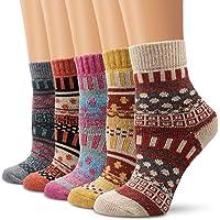 Moliker calze di lana, donne calzini inverno caldo morbido annata per l'inverno