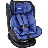 XOMAX 916 Seggiolino Auto con ISOFIX Girevole 360 Gradi e reclinabile I Evolutivo 0-36 kg, 0-12 Anni I Gruppo 0+/1/2/3 I Hous