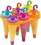 Kitchen Craft KCLOLLYUMB Set de 6 Moules pour Sucettes Glacées Plastique, Multicolore, 9 x 12 x 16 cm