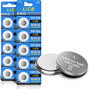 Licb 10 Stück Cr1220 3v Lithium Knopfzellen Cr 1220 Elektronik