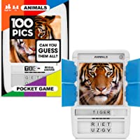 100 PICS Travel Game (Animals Pocket Quiz)(Card Games for Kids)