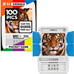 100 PICS Travel Game Top Animal Picture Puzzle Card Games for Kids