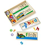 Melissa & Doug See & Spell Learning Toy (Developmental Toys, Wooden Case, Develops Vocabulary and Spelling Skills, 50…