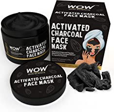 WOW Activated Charcoal Face Mask with PM 2.5 Anti-Pollution Shield No Parabens and Mineral Oil Wash Off Face Mask, 200ml
