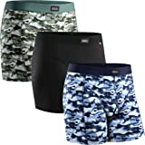Men's Cotton Trunks 3 Pack, Stretchy Soft Fitted Boxer Pants, Classic Fit Underwear, Comfortable Boxer Shorts