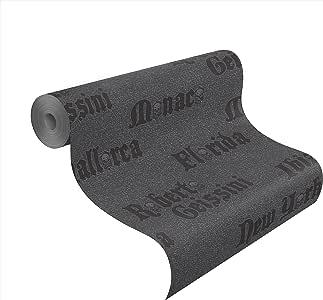 rasch tapeten roberto geissini vlies tapete city schwarz grau mit glitzer 492262