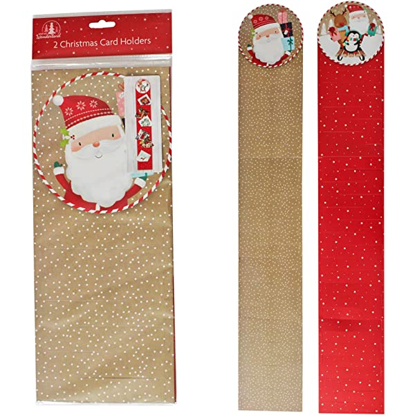 2 Christmas Card Holders Holds 30 By The Home Fusion Company Amazon Co Uk Kitchen Home