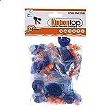 Kinbontop 15paires de bouchons d'oreille anti-bruit avec cordelette, en élastomère thermoplastique, réutilisables, souples,
