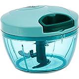Amazon Brand - Solimo Plastic Compact Vegetable Chopper (350 ml, Green)