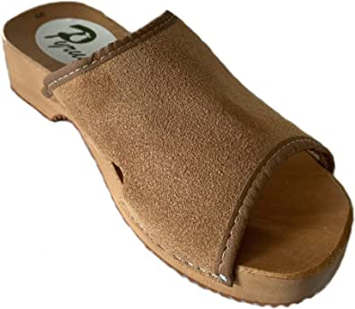 GreenPyrus J1 Sandali Zoccoli Sabot Pantofole Scarpe Pelle Scamosciata, Donna